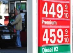 Precio del galón de nafta (3.8 lts) en San Francisco en estación atendida por empleados